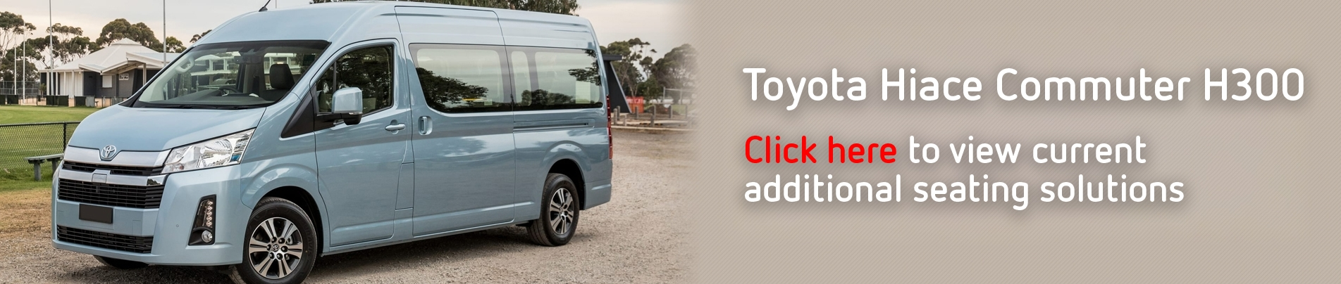 View the all new Toyota Commuter product range!